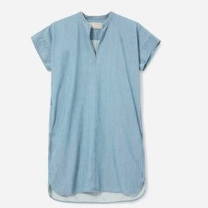 Everlane denim short sleeve oversized shirt dress